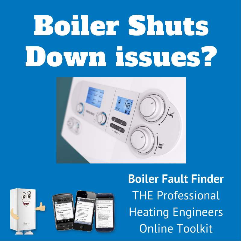 boiler shuts down issues