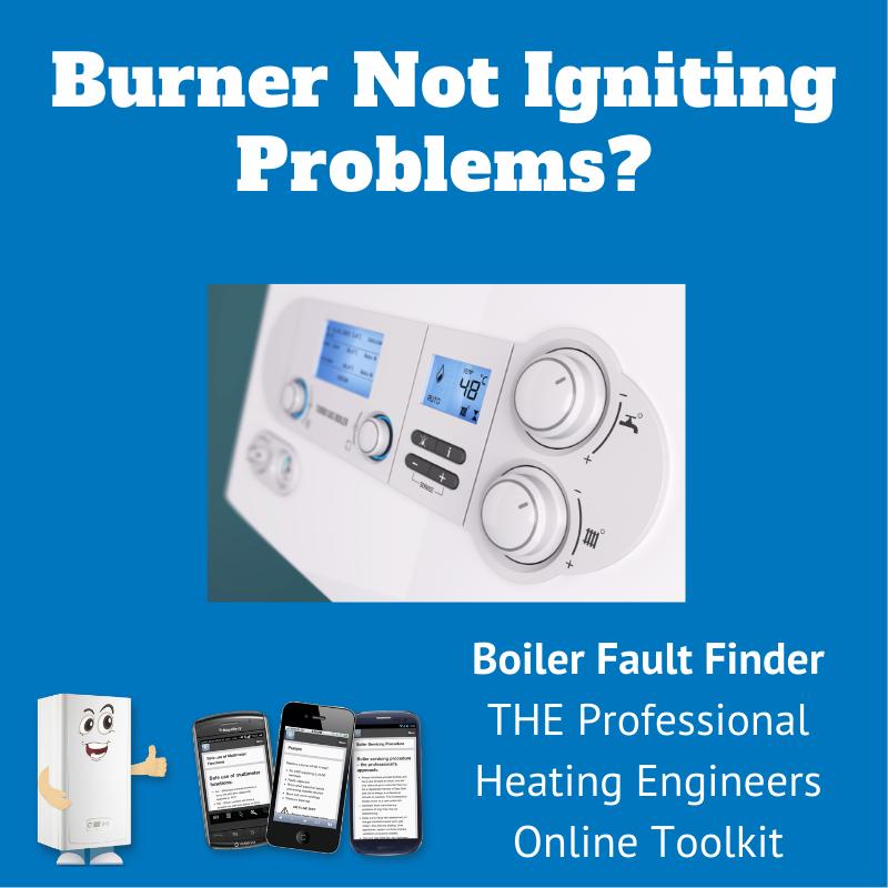 burner not igniting problems